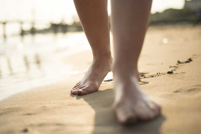 Feeling your feet on the ground helps calm you.